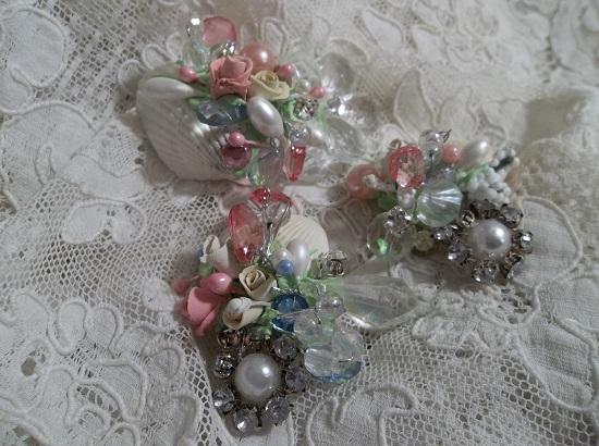 (Doris) Set Of 3 Decorated Seashells