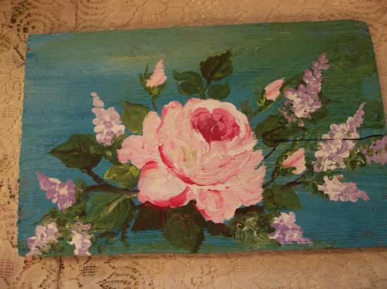 (The Lone Rose Ranger) Handpainted Sign