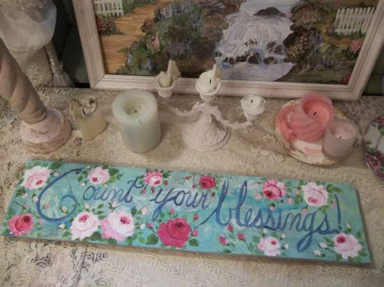 (Count Your Blessings) Handpainted Sign