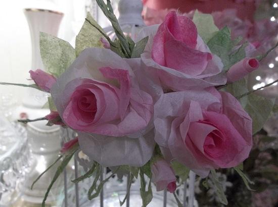 (Angella Rosa) Handmade Paper Rose Clip