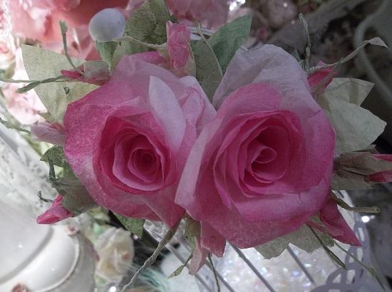 (Nancy) Handmade Paper Rose Clip