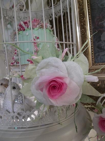 (Amy Elizabeth) Handmade Paper Rose Clip