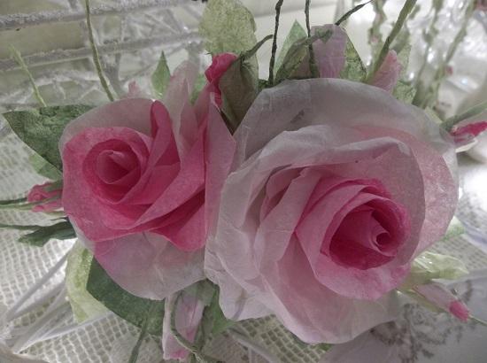 (Double Delishious) Handmade Paper Rose Clip