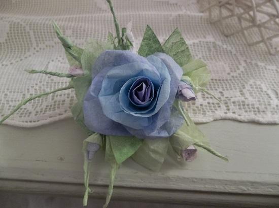 (Eustacia) Handmade Paper Rose Clip