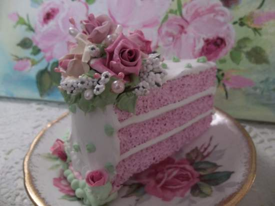 (Such A Gorgeous Rose Queen) Fake Cake Slice