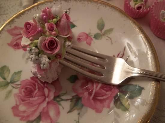 (Laura) Vintage Fork, Bite Of Fake Cake