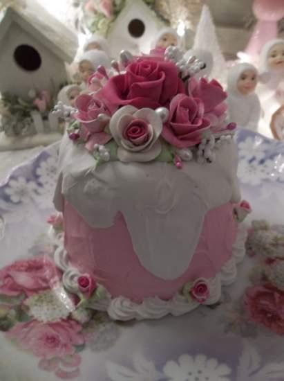 (Cherry Dream Cake) Funky Junk Fake Cake