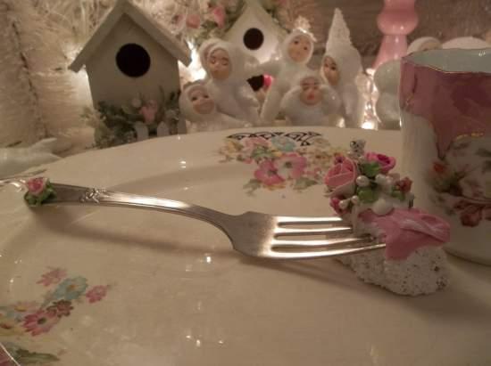 (Judy) Vintage Fork, Bite Of Fake Cake