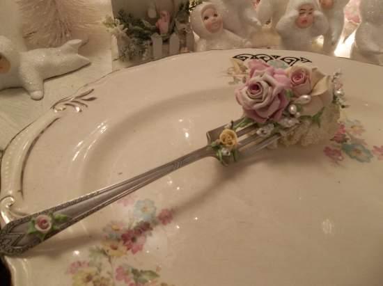 (Sheila) Vintage Fork, Bite Of Fake Cake