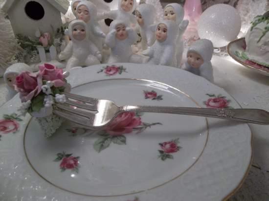 (Juliette) Vintage Fork, Bite Of Fake Cake