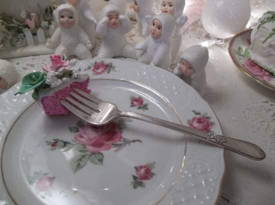 (Renee) Vintage Fork, Bite Of Fake Cake