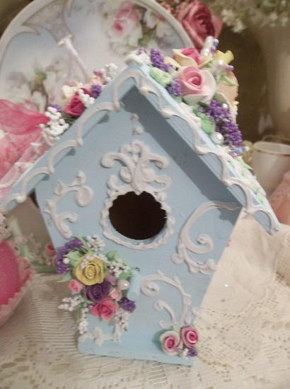 (Gayla) Decorated Birdhouse