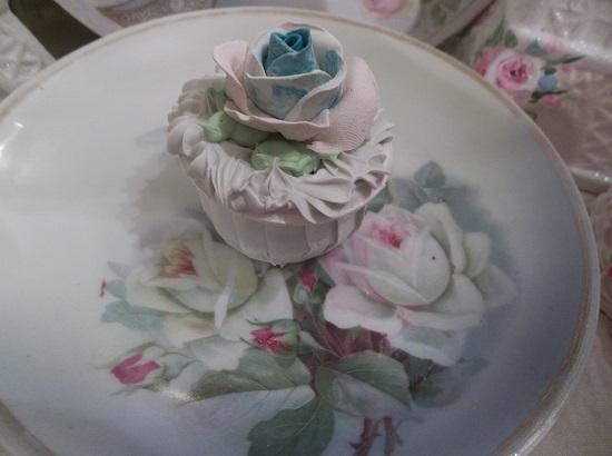 (Blue Raspberry Rose) Fake Cupcake