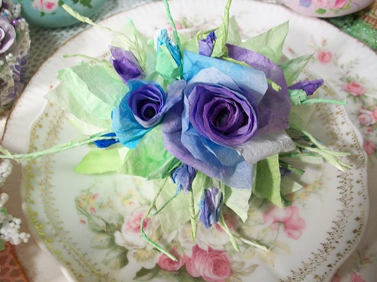 (Donna Jean) Handmade Paper Rose Clip