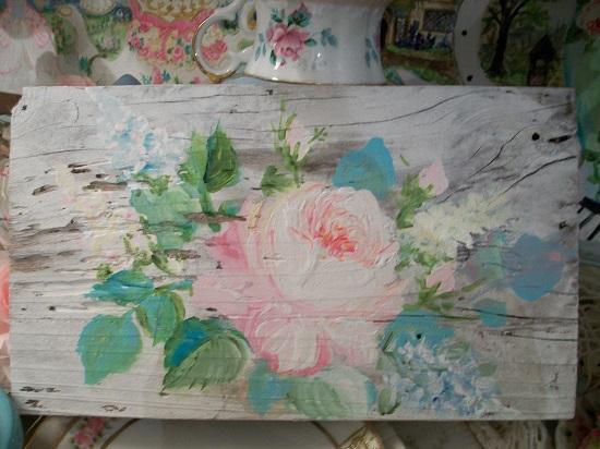 (Faithful Rose) Handpainted Sign