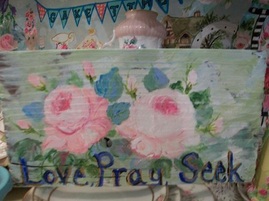 (Love Pray Seek) Handpainted Sign
