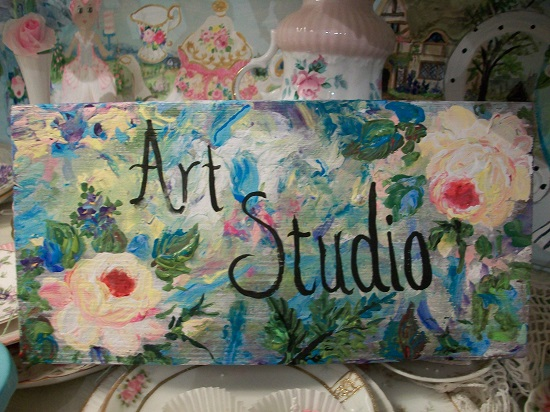 (The Art Studio I LOVE) Handpainted Sign