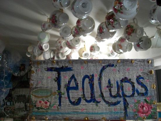 (Tea Cups) Handpainted Sign
