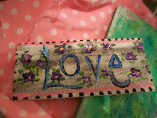 (For The Love Of Violet) Handpainted Sign