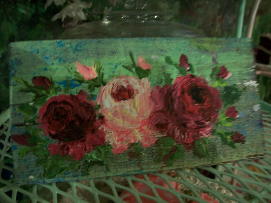 (Summer Afternoon Roses) Handpainted Sign