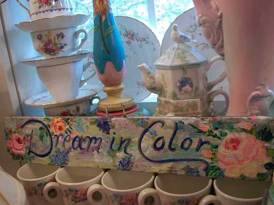 (Dream In Color) Handpainted Sign