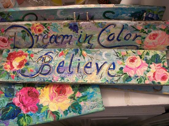 (Believe In Color) Handpainted Sign
