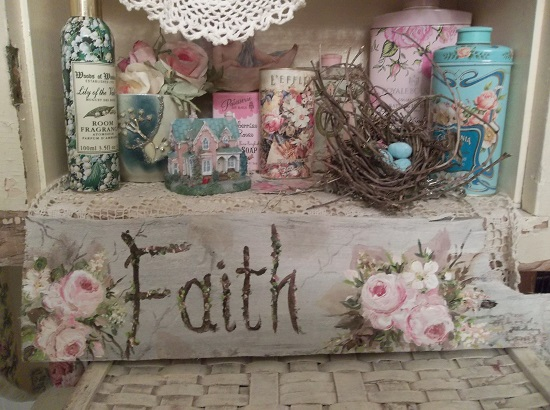 (Rugged Faith) Handpainted Sign