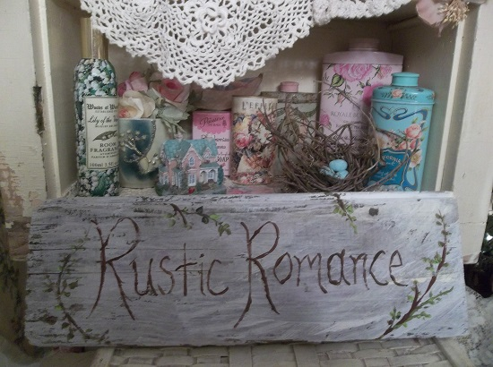 (Rustic Romance) Handpainted Sign
