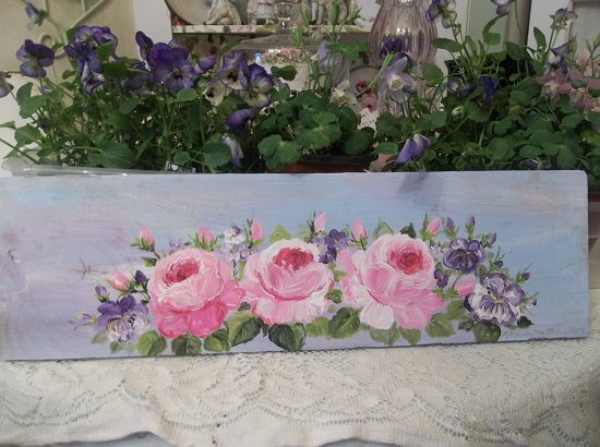 (Viola Rosa) Handpainted Sign