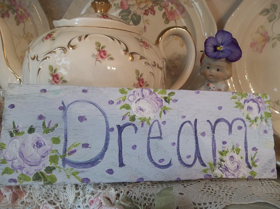(Lavender Dream) Handpainted Sign