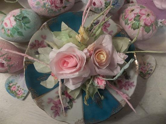 (Sunnie Rosa) Handmade Paper Rose Clip