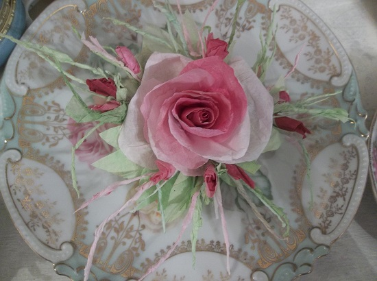 (Dora) Handmade Paper Rose Clip
