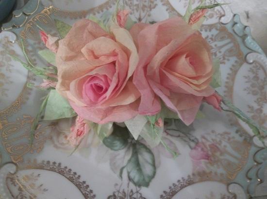 (Shay) Handmade Paper Rose Clip