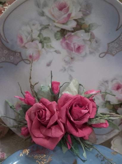 (Sheena) Handmade Paper Rose Clip