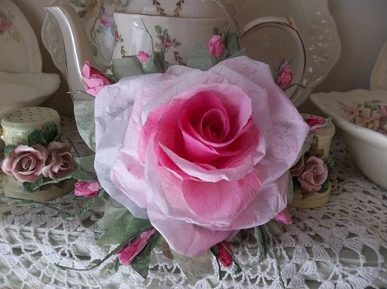 (Arla) Handmade Paper Rose Clip