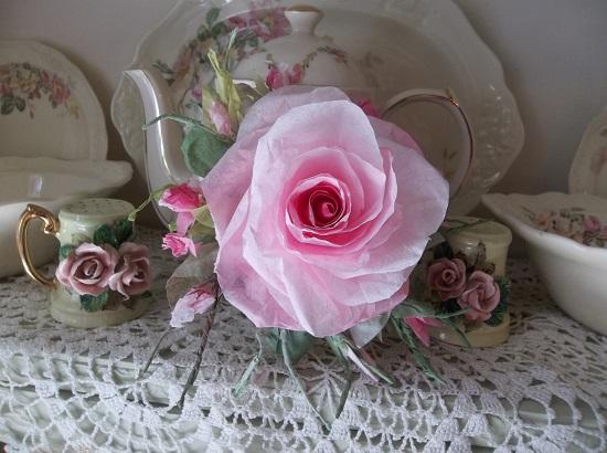 (Pat) Handmade Paper Rose Clip