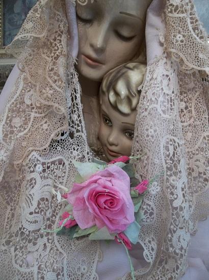 (Verbina) Handmade Paper Rose Clip