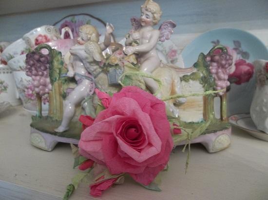 (Angela) Handmade Paper Rose Clip