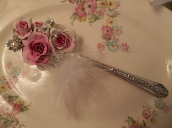 (Rose Struck) Larger Decorated Serving spoon