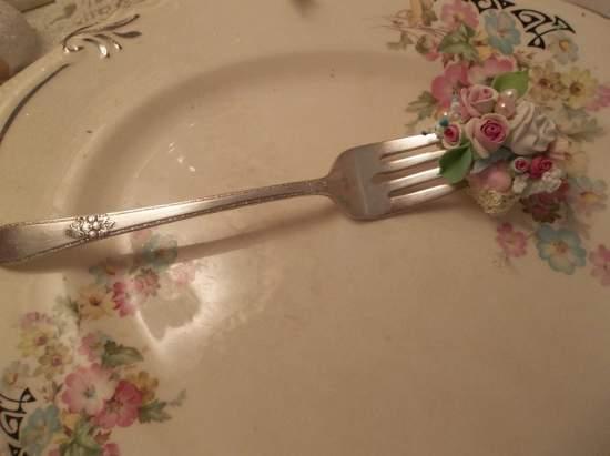 (Sweetest Summer) Vintage Fork, Bite Of Fake Cake
