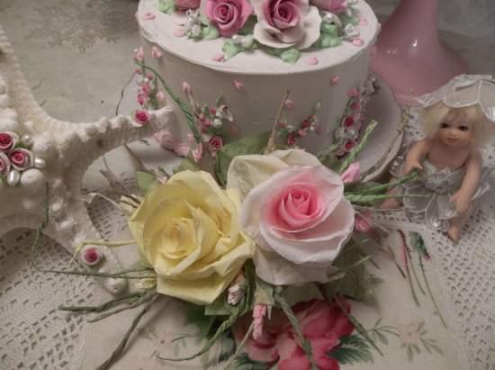 (Alissa) Handmade Paper Rose Clip