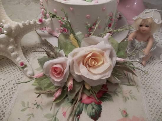 (Tiffany) Handmade Paper Rose Clip