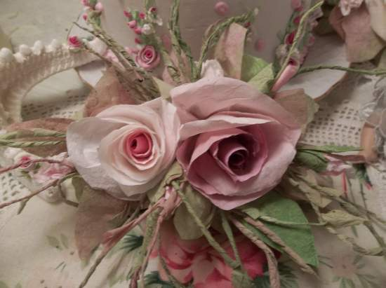 (Dream A Little Dream) Handmade Paper Rose Clip