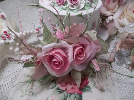 (Leana Tangerina) Handmade Paper Rose Clip