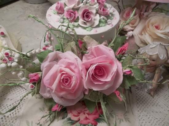 (HAPPY) Handmade Paper Rose Clip
