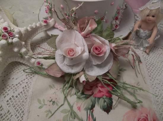 (Olive Ivy) Handmade Paper Rose Clip