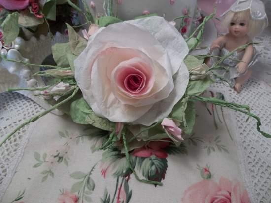 (Tabitha Rose) Handmade Paper Rose Clip