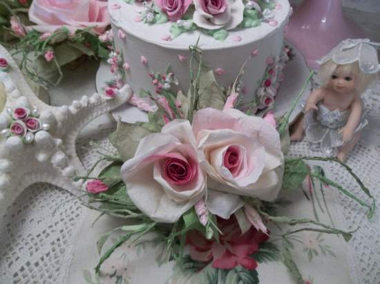 (Mattie) Handmade Paper Rose Clip
