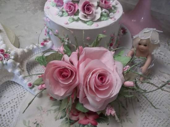 (Elegant Ermma) Handmade Paper Rose Clip