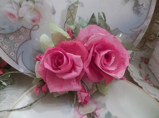 (Tashianna) Handmade Paper Rose Clip